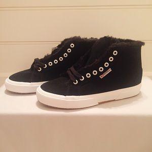 Superga - Black Suede 2795 suehairyfur - Size 8.5